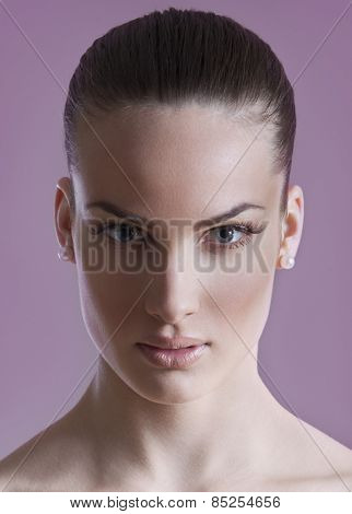 Healthy smooth skin young woman - cosmetic concept