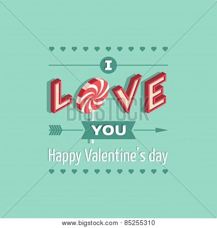 Valentine's Day love greeting card.