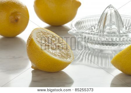 Fresh lemons ready to press