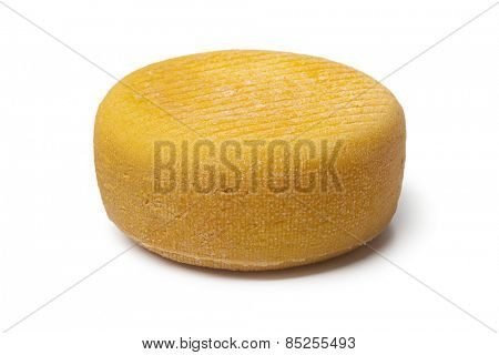 Whole Port salut cheese on white background