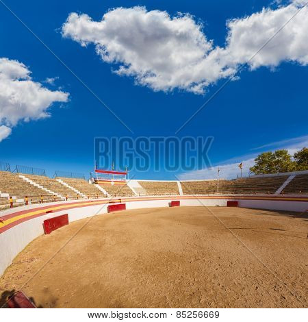 Alcudia Mallorca bullring in Balearic islands of Majorca Spain