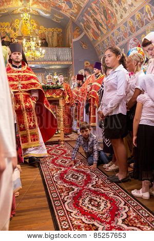 Odessa, Ukraine - September 13: Celebration Of The Orthodox Christian Religious Holiday Icons Of The