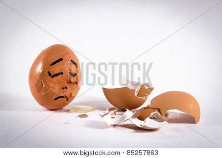 An Egg Mourns Another Broken Friend