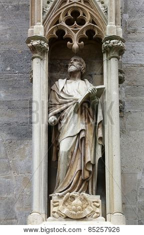 VIENNA, AUSTRIA - OCTOBER 10: Saint John the Evangelist at St Stephans Cathedral in Vienna, Austria on October 10, 2014