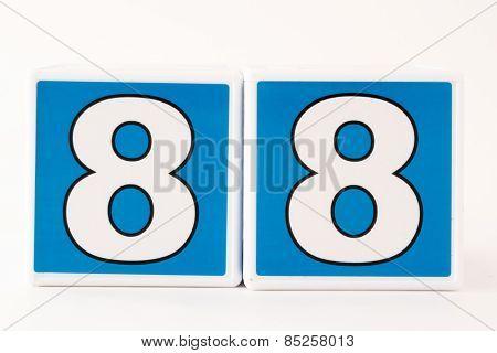 Number 88 Child's Building Block