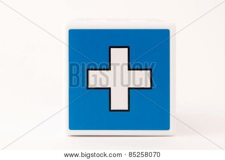 Plus Sign Child's Building Block
