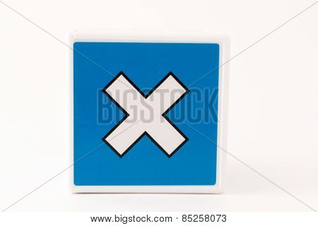 Multiply Sign Child's Building Block