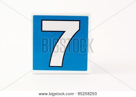 Number 7 Child's Building Block