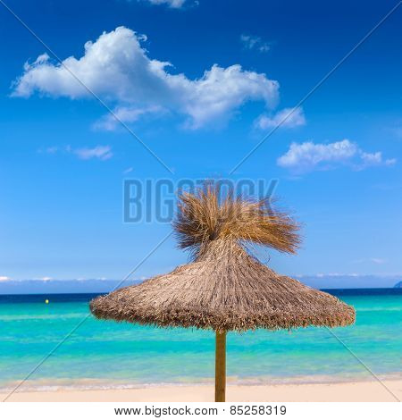 Majorca Platja de Muro beach in Alcudia bay in Mallorca Balearic islands of Spain