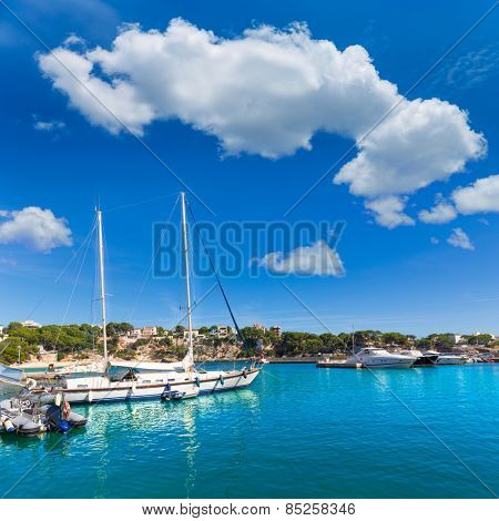Majorca Porto Cristo marina port in Manacor of Mallorca Balearic island at spain