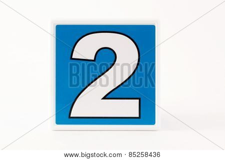 Number 2 Child's Building Block