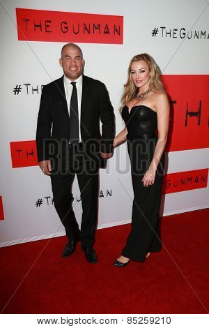 LOS ANGELES - MAR 12:  Tito Ortiz, Amber Miller at the
