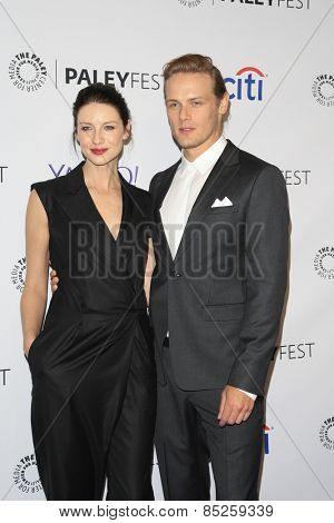 LOS ANGELES - MAR 12:  Caitriona Balfe, Sam Heughan at the PaleyFEST LA 2015 -