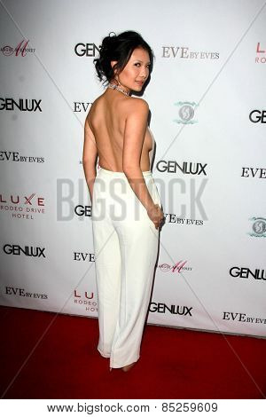 LOS ANGELES - MAR 12:  Gwendoline Yeo at the GENLUX Magazine 10th Anniversary Party at the Eve by Eve's on March 12, 2015 in Beverly Hills, CA