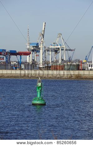 Hamburg - Wind Turbine At The Port
