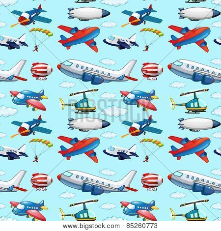 Seamless different types of aircrafts