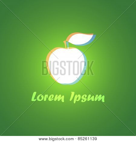 Logo With White Apple
