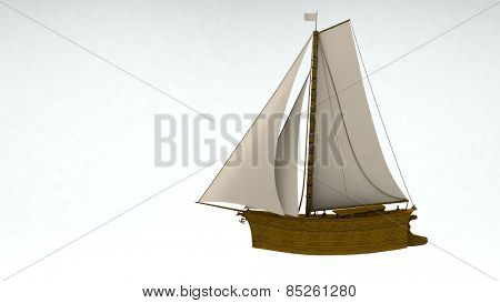 ship isolated on white