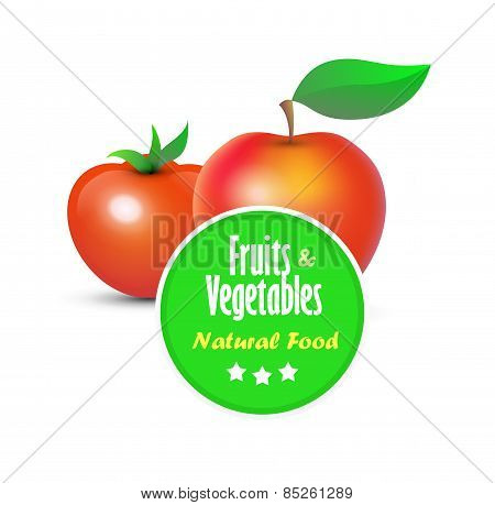 Illustration Of Fruits And Vegetables