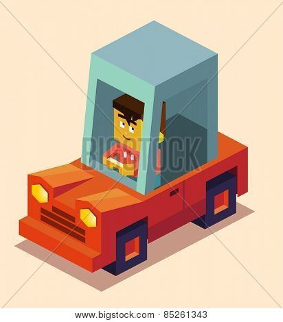 Get car driving licence. vector illustration