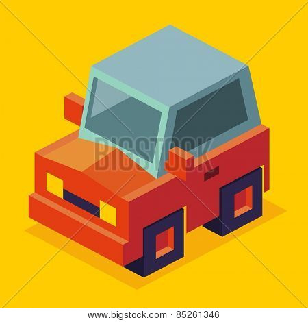 just a red car in vector illustration