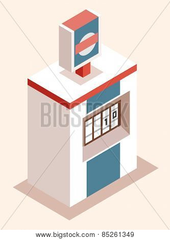 gas station machine. vector illustration