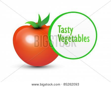 Tasty Tomato And Label