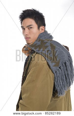 handsome young man posing isolated