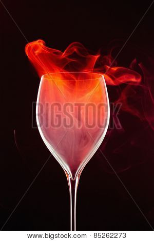 Smoke in a glass