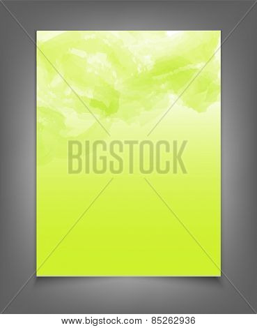 template for a business with a green strokes