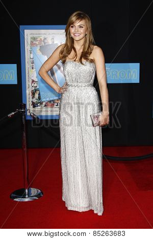 LOS ANGELES - APR 21: Aimee Teegarden at the premiere of Walt Disney Pictures' 'Prom' at the El Capitan in Los Angeles, California on April 21, 2011.