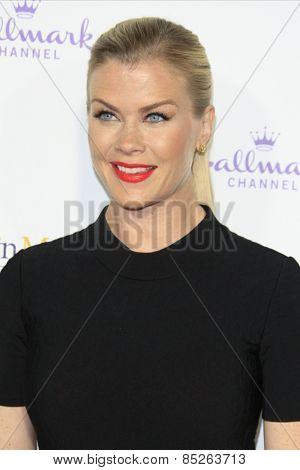LOS ANGELES - JAN 8: Alison Sweeney at the TCA Winter 2015 Event For Hallmark Channel and Hallmark Movies & Mysteries at Tournament House on January 8, 2015 in Pasadena, CA