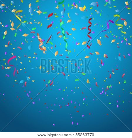 Confetti background ideal for Christmas or birthdays