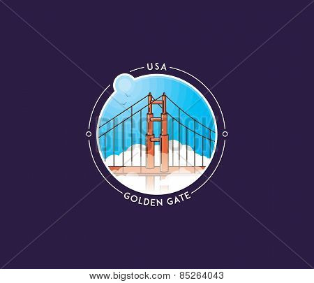 San Francisco Golden Gate Vector Icon