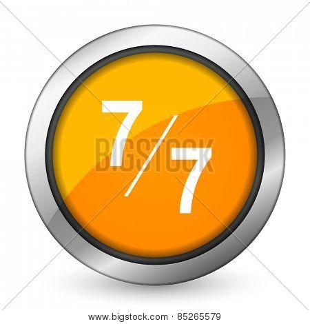 7 per 7 orange icon