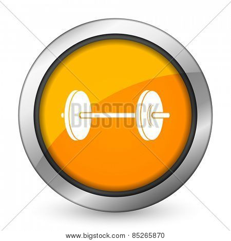 fitness orange icon