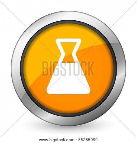 laboratory orange icon