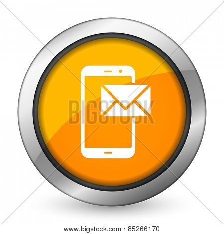 mail orange icon post sign