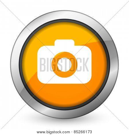 photo camera orange icon photography sign