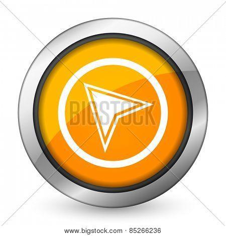navigation orange icon