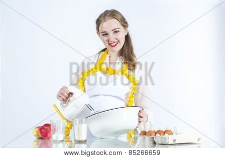 Housewife Holding Mixer