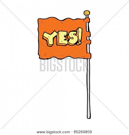 cartoon yes flag