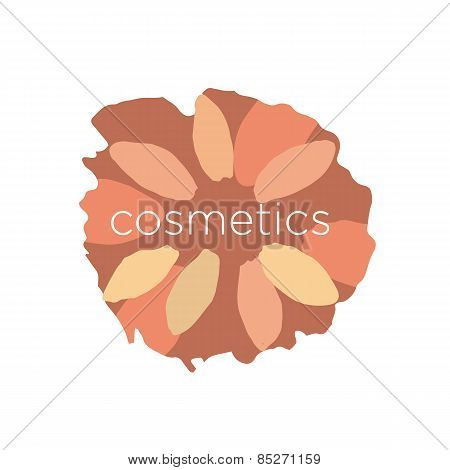 Abstract Vector Icon Of The Petals In A Circle