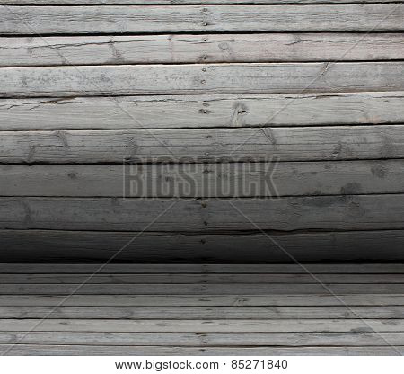 Convex texture nailed wooden railing