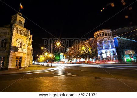Chisinau In Night
