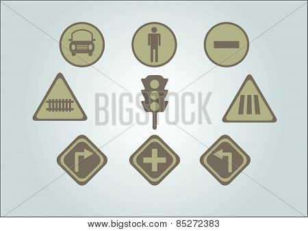 Traffic Sign And Traffic Lamps