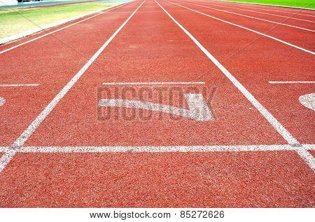 Athletics Stadium Running track number 7