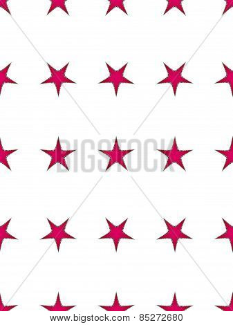 Seamless pattern with a red stars