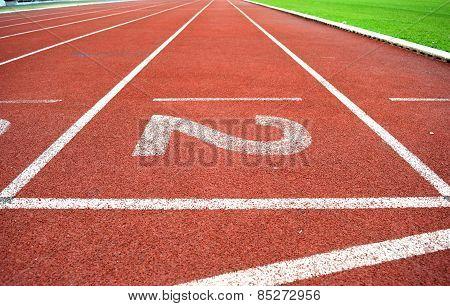 Athletics Stadium Running track number 2