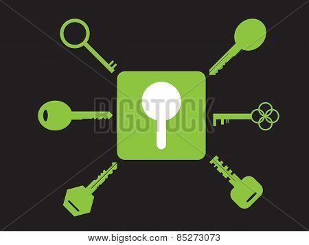 Set Of Key Icons